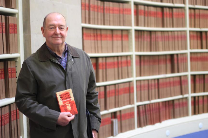 Dr. McGowan at the National Records of Scotland